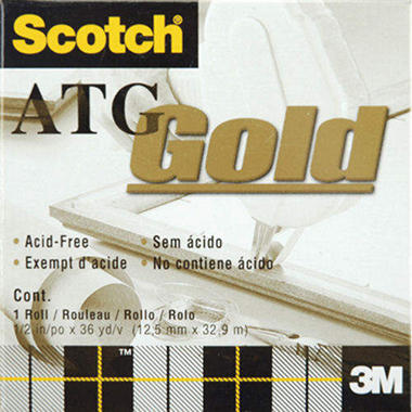 "Scotch ATG Gold Transfer Tape - .5""X36 Yards"