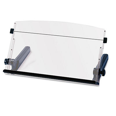 3M In-Line Freestanding Plastic Copyholder, Black/Clear (300 Sheet Capacity)