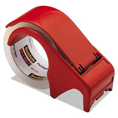 """Scotch - Compact and Quick Loading Dispenser for Box Sealing Tape, 3"""" Core, Plastic -  Red"""