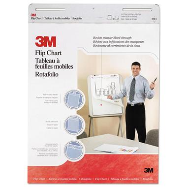 3M Professional Flip Chart Pad, Unruled, 25