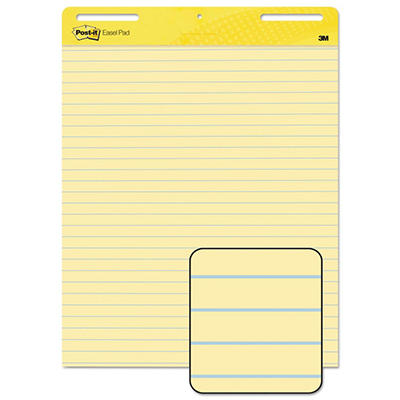Post-It - Self-Stick Easel Pads, Yellow w/Lines, 30 Sheets - 2 Pack