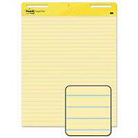 Post-It Self-Stick Easel Pads, Lined, 30 Sheets per Pad, Yellow, Select Quantity