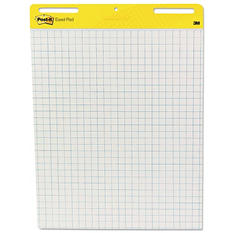 Post-It - Self-Stick Easel Pads, White w/Grid, 30 Sheets - 2 Pack