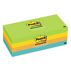 "Post-it Notes Original Pads in Jaipur Colors, 1.5"" x 2"", 12 Pads/Pack"