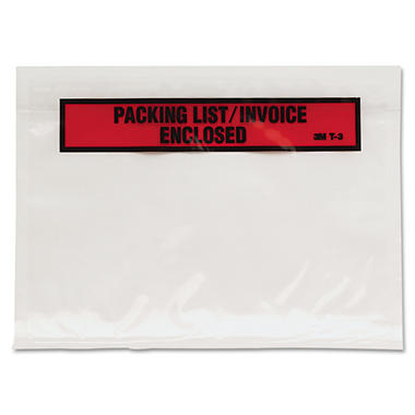 3M - Packing List Envelopes, 1,000 Pack