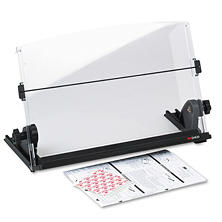 3M In-Line Adjustable Plastic Desktop Copyholder, Black/Clear (150 Sheet Capacity)