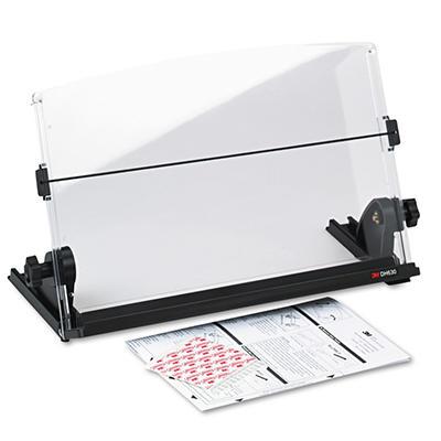 3M In-Line Adjustable Plastic Desktop Copyholder, Black/Clear (150 Sheet Capacity)