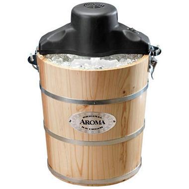 Aroma Ice Cream Maker - 4 qt. - Pine - Sams Club