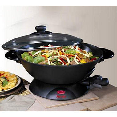 Aroma Electric Wok with Accessories - 5 qt.