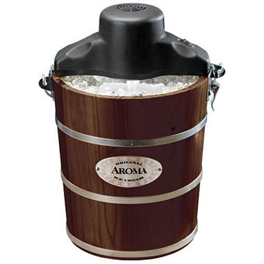 Aroma Ice Cream Maker - 4 qt. - Walnut