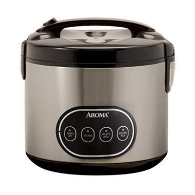 Aroma 8-Cup Rice Cooker & Food Steamer - Stainless