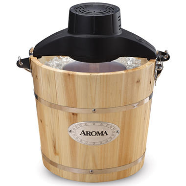 Aroma 4-Quart Traditional Ice Cream Maker