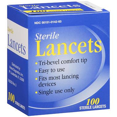 Sterile Lancets - 100 ct.