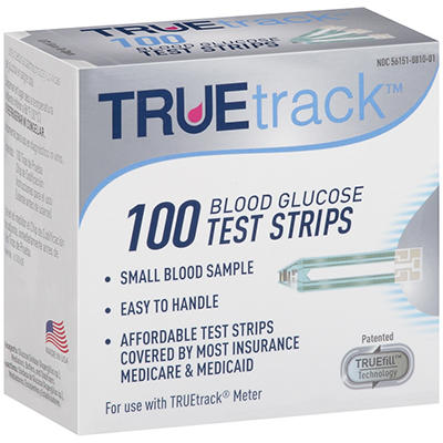 True Track 100 Blood Glucose Test Strips