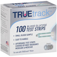 True Track 100 Blood Glucose Test Strips