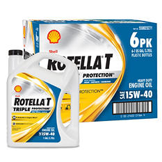 Rotella T 15W40 Heavy Duty Motor Oil - 1 Gallon Bottles - 6 Pack (Save $4 Now)