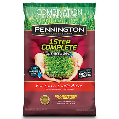 Pennington 1 Step Complete® Sun and Shade - 18 lb. bag (Covers up to 300 sq. ft.)