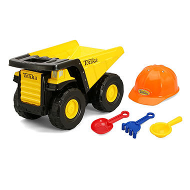 Tonka Mighty Dump Truck with Tools and Hat