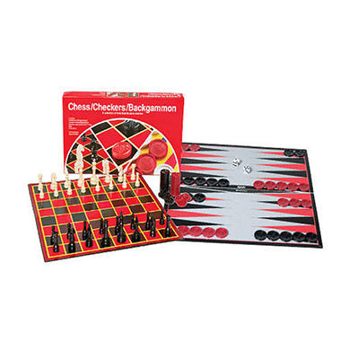 Chess / Checkers / Backgammon Set