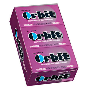 Wrigley's Orbit Bubblemint™ - 14 pc. pks. - 12 ct.