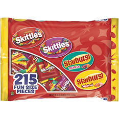 Skittles and Starburst Fun Size Candy Bag (215 ct.)