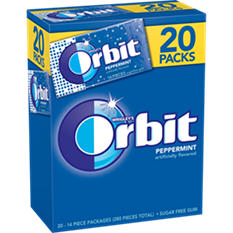 Orbit Gum, Peppermint (14 per pk., 20 pk.)