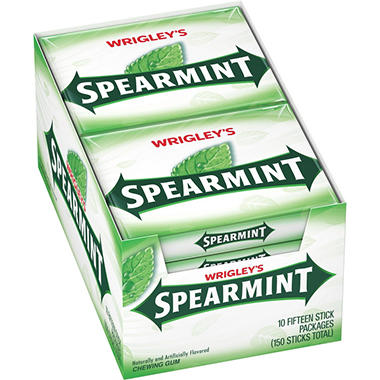Wrigley's? Spearmint� Gum - 15 stick packs - 10 ct.