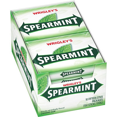 Wrigley's™ Spearmint® Gum - 15 stick packs - 10 ct.