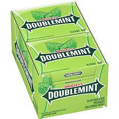 Wrigley's Doublemint Gum (15 stick pack, 10 pks.)