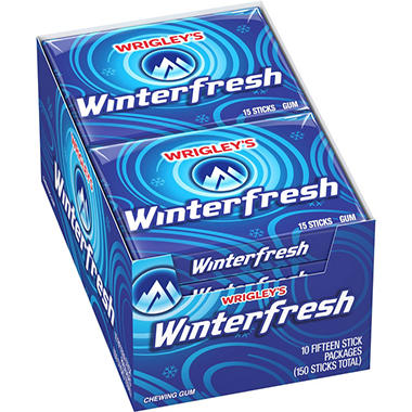 Wrigley's™ Winterfresh® Gum - 15 stick packs - 10 ct.