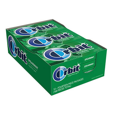 Orbit Spearmint Sugar-free Gum (12 pk.)