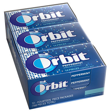 Wrigley's Orbit Peppermint - 14 pc. - 12 pks.