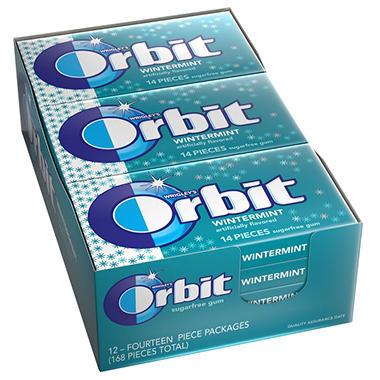 Wrigley's Orbit Wintermint - 14 pc. - 12 pks.