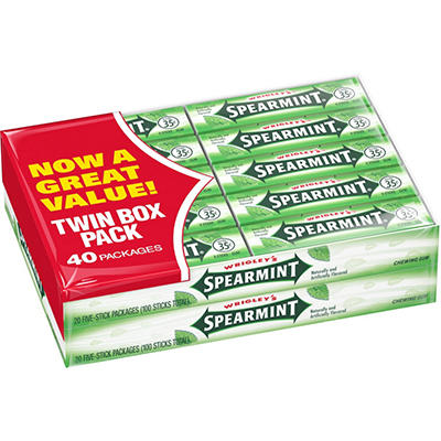 Wrigley's Spearmint - 20 pks. - 2 ct.