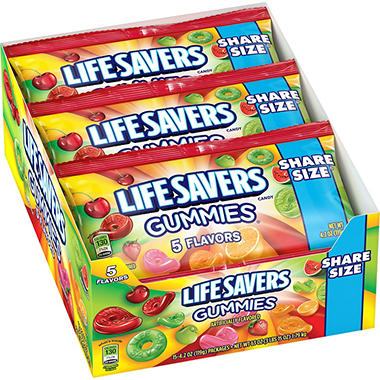 Lifesavers 5 Flavors Gummies Candy 4 2 Oz 15 Pk Sam