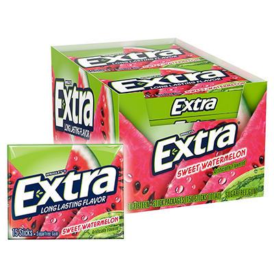 Extra® Sweet Watermelon Gum - 15 piece pks. - 10 ct.