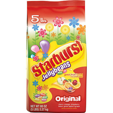 Starburst Jelly Beans - Original or Crazy Beans - 5 lbs.