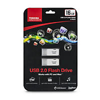 Toshiba TransMemory 16GB USB 2.0 Flash Drive 2-pack