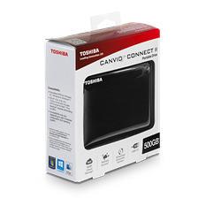 Toshiba 500GB Canvio Connect II Black