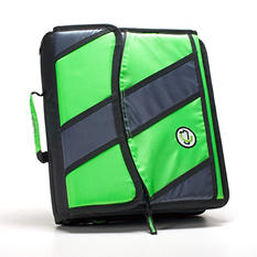 "Case It 2"" D-Ring Zipper Binder, Green/Gray/Black"