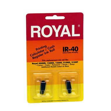 Royal Cash Register Ink Rolls - 2 pk.