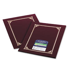 Geographics - Certificate/Document Cover, 12-1/2 x 9-3/4, Burgundy, 6 Pack