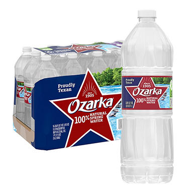 Ozarka® Natural Spring Water - 1 L - 15 pk.