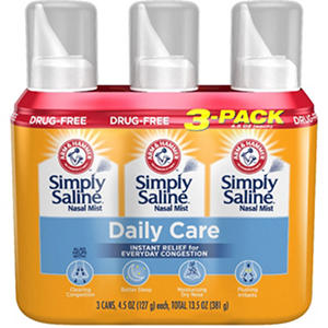 Arm & Hammer Simply Saline Nasal Relief (4.25 oz., 3 pk.)