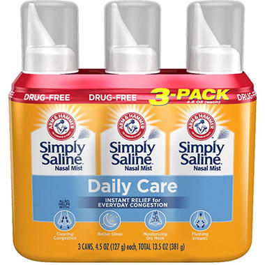 ARM & HAMMER Simply Saline Nasal Relief - 4.25 oz. - 3 pk.