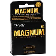 Trojan Magnum Lubricated Latex Condoms (3 ct.)