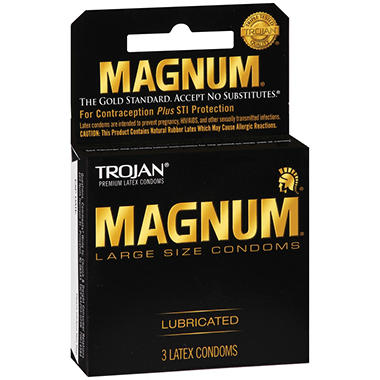 Trojan� Magnum� Condoms - 6 pk. - 3 ct. each