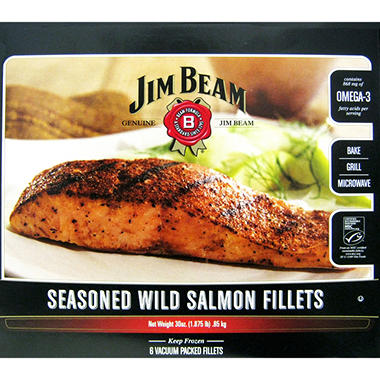Jim Beam� Seasoned Wild Salmon Fillets - 1.9 lbs.