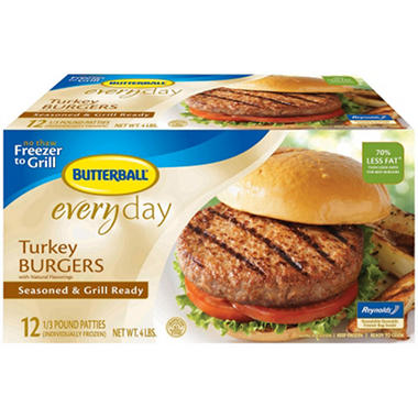 Butterball Turkey Burger - 12 ct./ Total Net Wt 4 lbs.