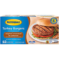 Butterball Turkey Burgers, Original Seasoned (4 lb.,12 ct.)